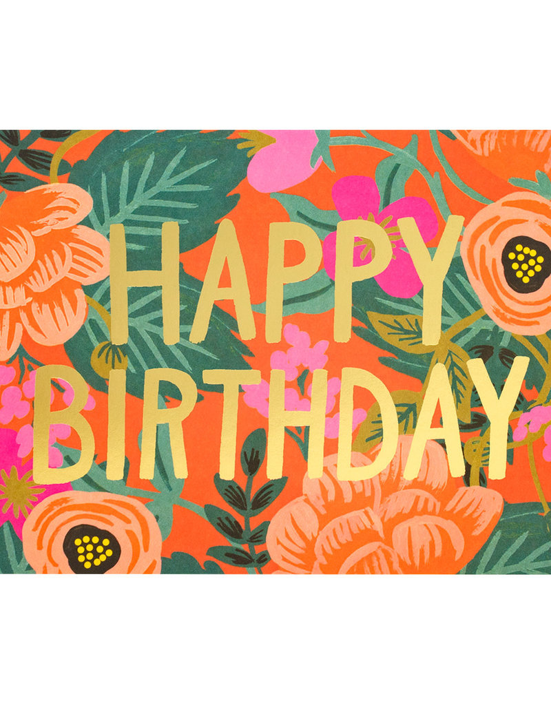 Rifle Paper Poppy Birthday Card