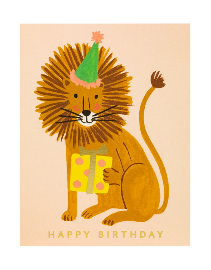 Rifle Paper Lion Birthday Card
