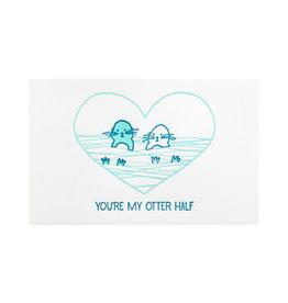 Pike Street Press Otter Half Greeting Card