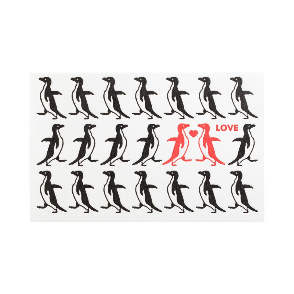 Pike Street Press Love Penguins Greeting Card