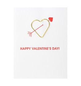Chez Gagne Valentine's Heart Card Letterpress Card