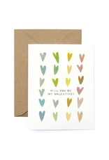 Modern Hearts Valentine's Greeting Card