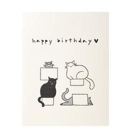 Fugu Fugu Press Birthday Cats in Boxes