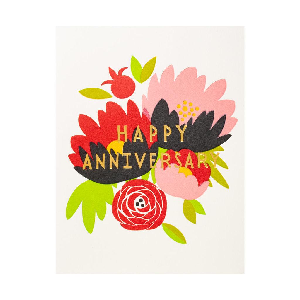 Fugu Fugu Press Happy Anniversary Bouquet - Letterpress Card