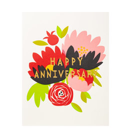 Fugu Fugu Press Happy Anniversary Bouquet - Letterpress Card