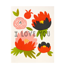 Fugu Fugu Press Love You Flowers - Letterpress Card