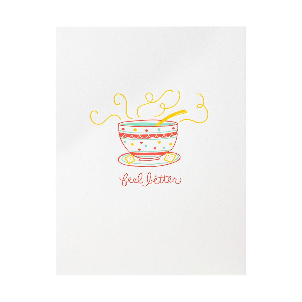 Ramona & Ruth Feel Better Soup Letterpress Card