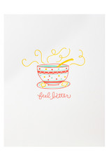 Ramona & Ruth Feel Better Soup Letterpress Card