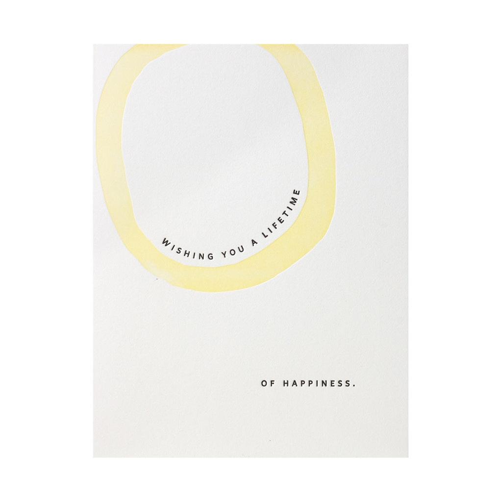 Ramona & Ruth Lifetime of Happiness Letterpress Card
