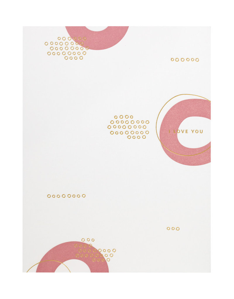 Ramona & Ruth I Love You Circles Letterpress Card