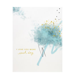 Ramona & Ruth Love You More Each Day Cloud Greeting Card