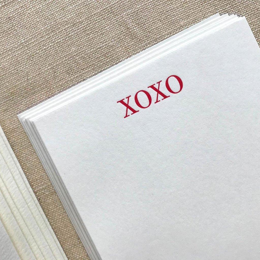 Ornament Letterpress xoxo - Vertical Flat Letterpress Cards