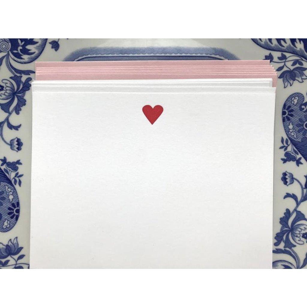 Ornament Letterpress Heart Flat Letterpress Cards
