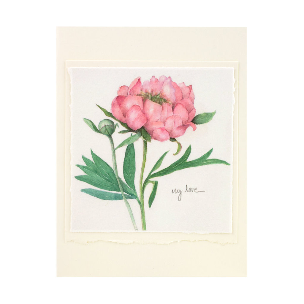 Grace Watercolors Peony My Love Card