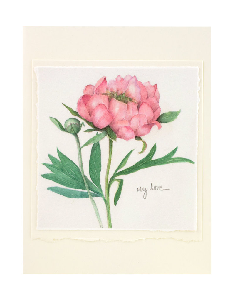 Grace Watercolors Peony My Love Card