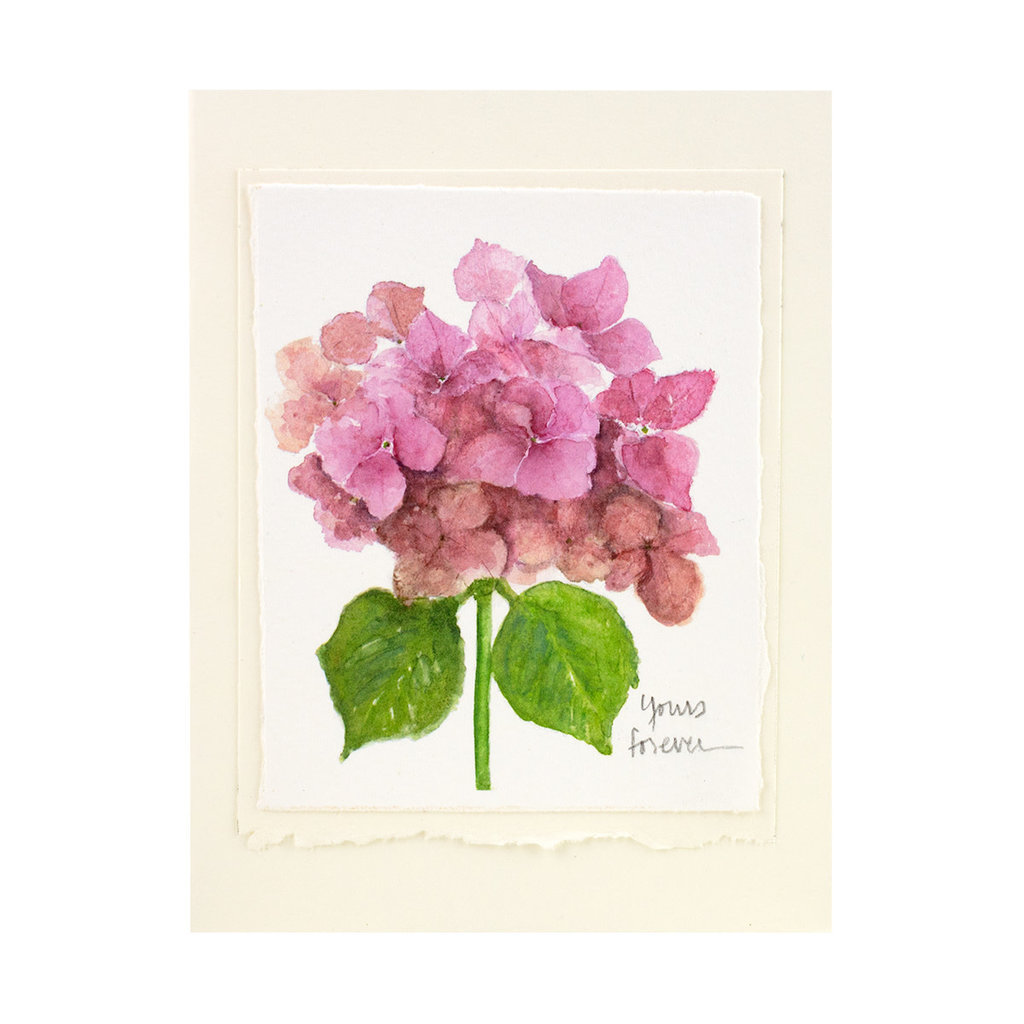 Grace Watercolors Hydrangea Yours Forever Card