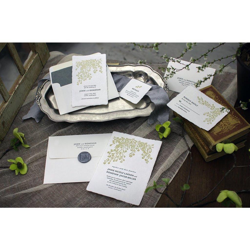 Curated Custom Letterpress Sample