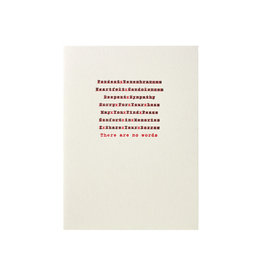 A Favorite Design Edited Sympathy Message Letterpress Card