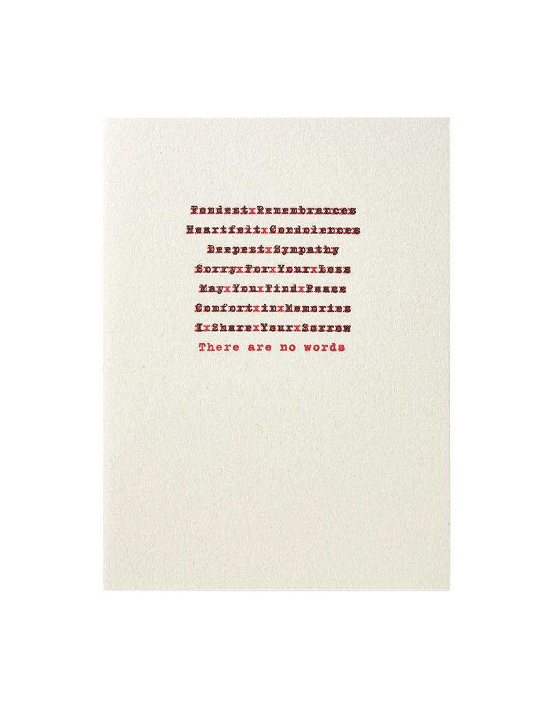 A Favorite Design Edited Sympathy Message Letterpress Card