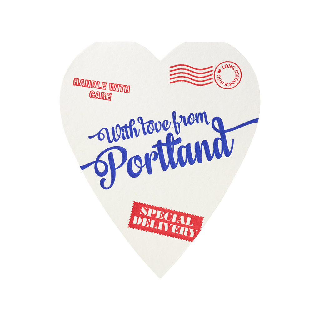 A Favorite Design With Love from Portland Heart