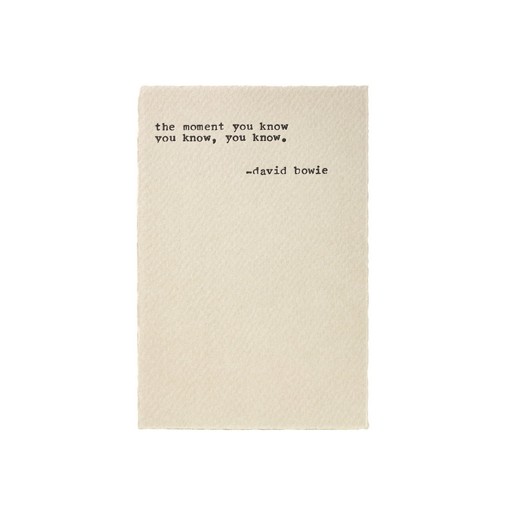 A Favorite Design Bowie Rock Quote - Typewriter Card