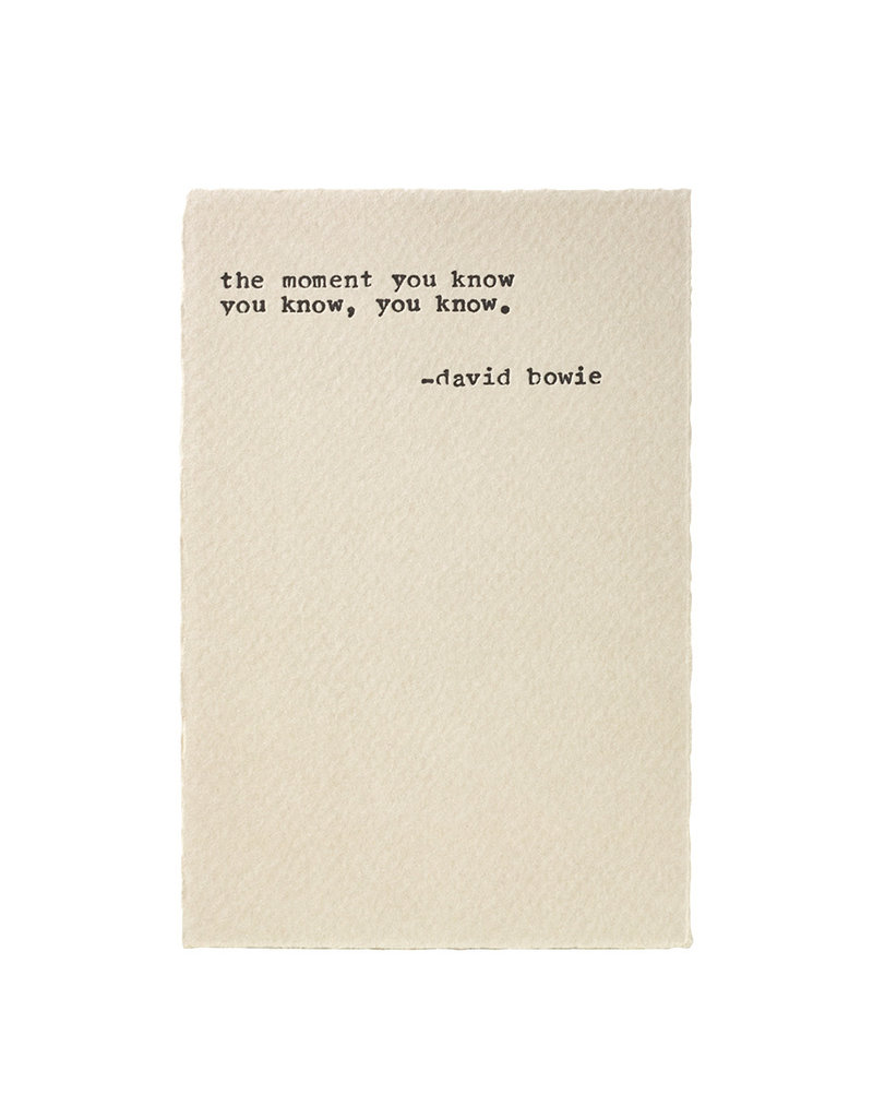 A Favorite Design Bowie Rock Quote - Typewriter Card
