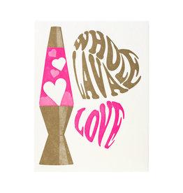 A Favorite Design Whole Lava Love Letterpress Card