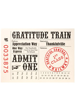 A Favorite Design Thank You Train Ticket Letterpress Cards - Box of 6