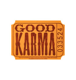 A Favorite Design Good Karma Ticket Letterpress Card - Box of 6