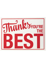 A Favorite Design Thanks You're The Best Sign Letterpress - Box of 6