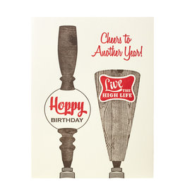 A Favorite Design Birthday Tappers Letterpress Card