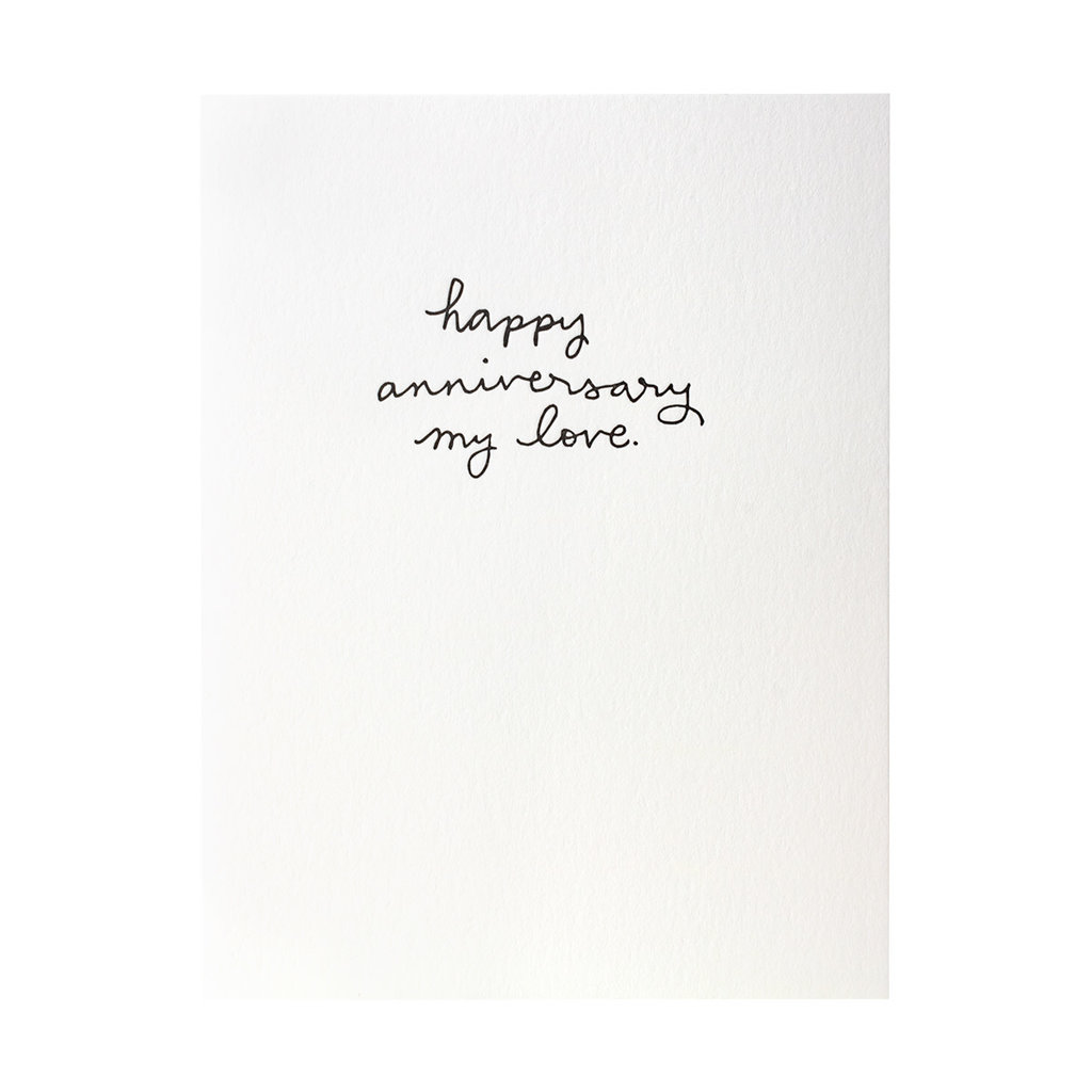 Iron Curtain Press Happy Anniversary - Letterpress Card