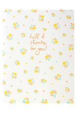 Iron Curtain Press Ditsy Floral Thank You - Letterpress Card