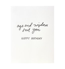 Iron Curtain Press Age and Wisdom Birthday - Letterpress Card