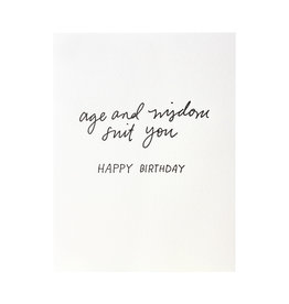 Iron Curtain Press Age and Wisdom Birthday - Letterpress Card