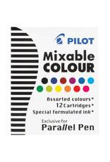 Pilot Parallel Pen Cartridges - 12 Assorted Colors