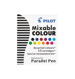 Pilot Parallel Pen Cartridges - 12 Assorted Colors