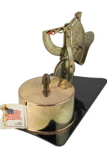 Vintage letter scale with stamp roll dispenser