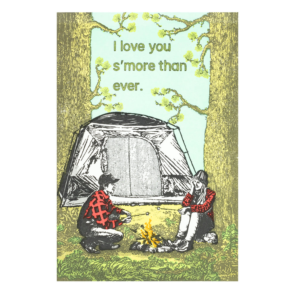 Old School Stationers I love you s'more than ever - letterpress card