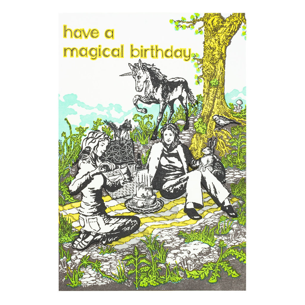 Old School Stationers Have a magical birthday letterpress card