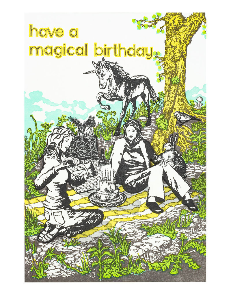Old School Stationers Have a magical birthday - letterpress card