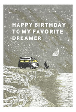Old School Stationers Happy Birthday Favorite Dreamer - Letterpress Card