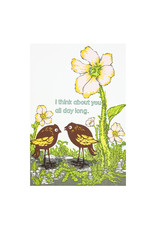 Old School Stationers I think about you all day long letterpress card