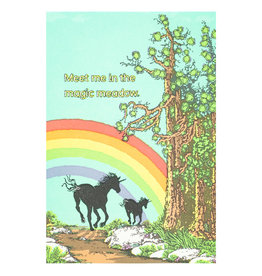 Old School Stationers Meet Me in the Magic Meadow - Letterpress Card