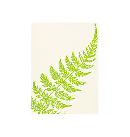Saturn Press Curve Fern Grace Letterpress Notes Set of 6