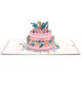 Lovepop Floral Birthday Cake Pop-Up Card