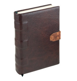 handmade dark burgundy leather book medium