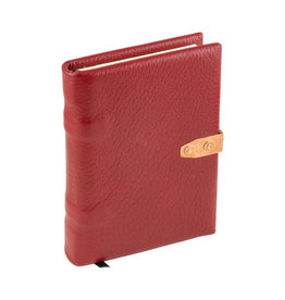 handmade red leather book medium