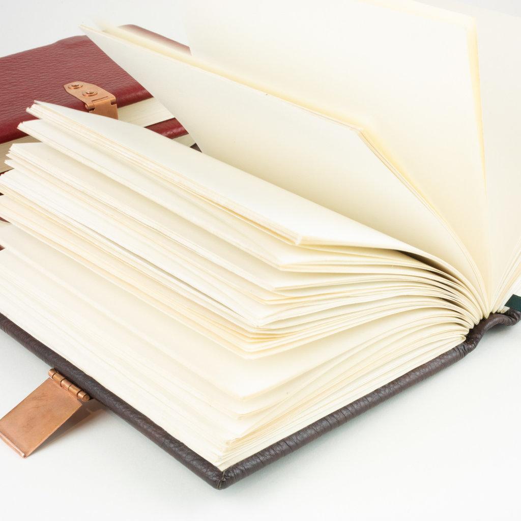 handmade red leather book medium 6.75 x 4.5