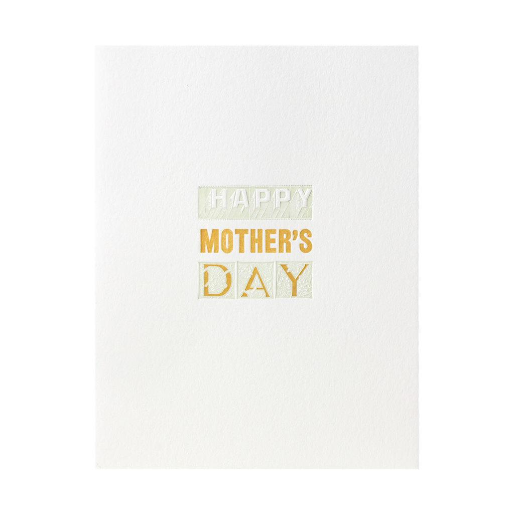 Green Bird Press Happy Mother's Day Letterpress Card